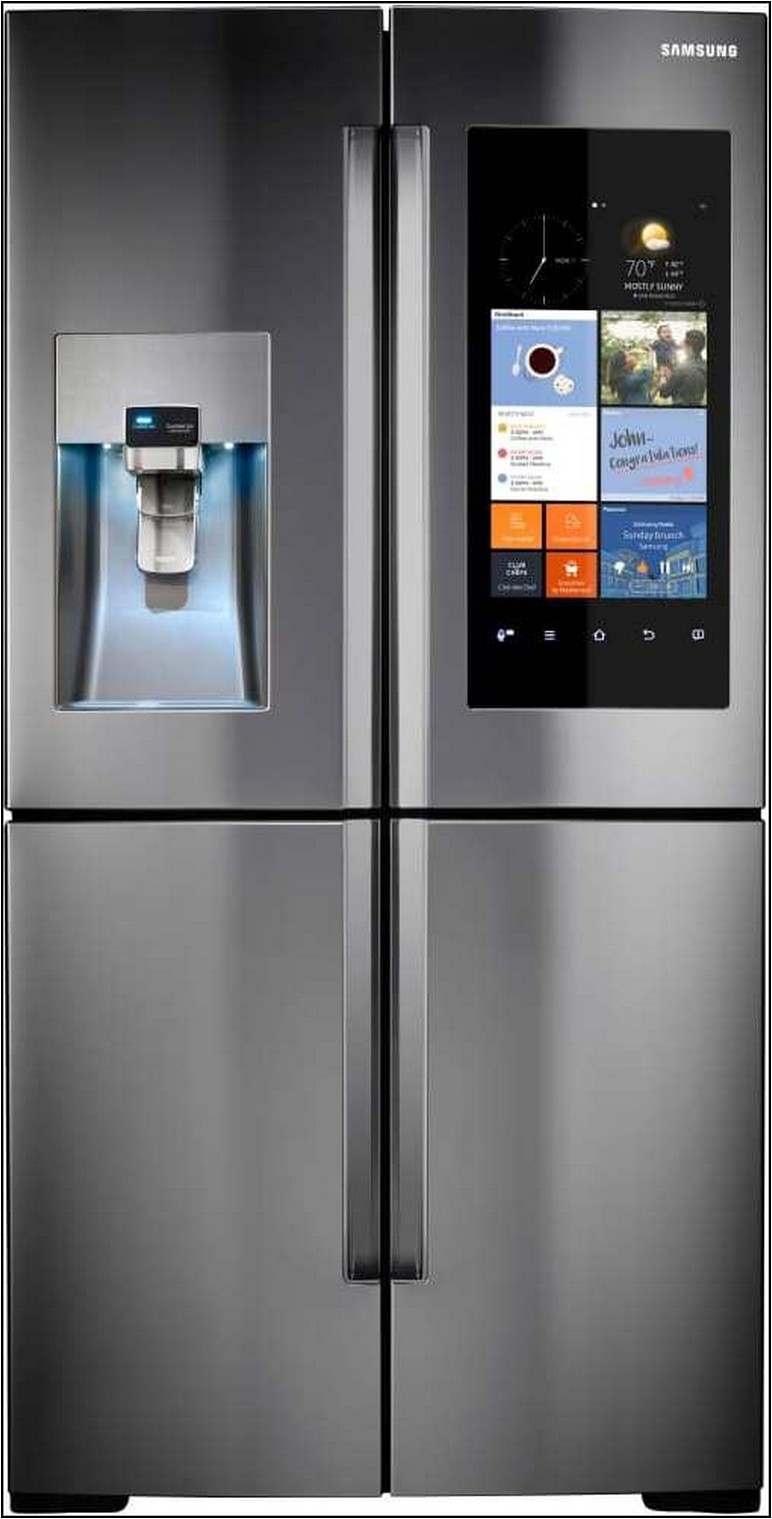 35 Inch Wide Stainless Steel Refrigerator