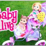 Baby Doll Double Stroller Toy