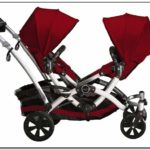 Contour Double Stroller Red