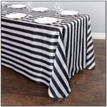 Black And White Striped Table Runner Plastic