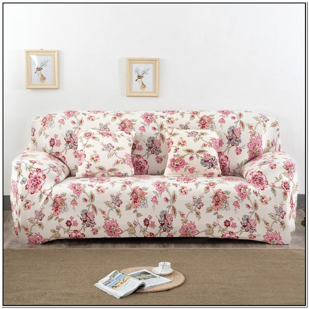 Red Flowered Sofas