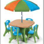 Step2 Table And Chairs With Umbrella