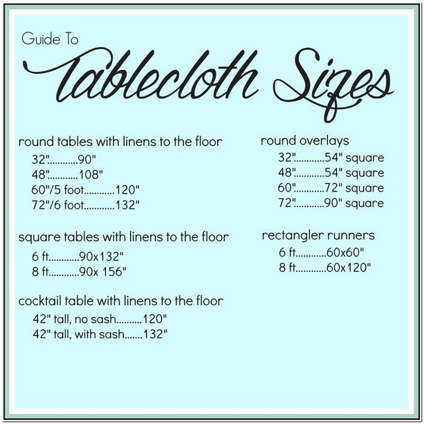 What Size Tablecloth For 6 Foot Square Table