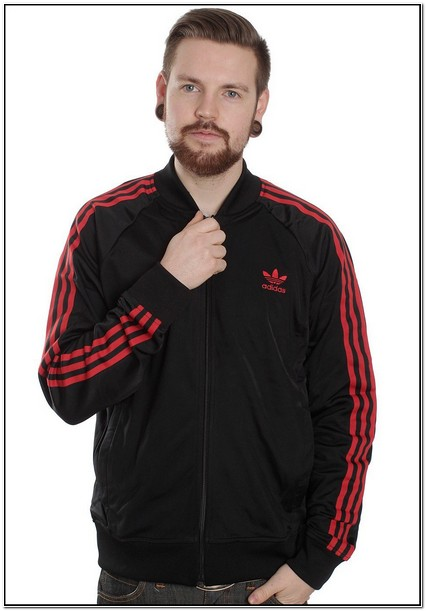 Adidas Black And Red Track Jacket