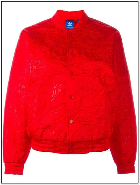 Adidas Red Bomber Jacket Womens