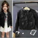 Black Baby Girl Bomber Jacket