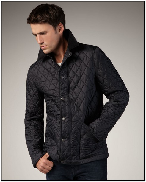 Burberry Mens Quilted Jacket Black