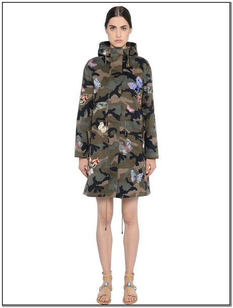 Camo Jacket With Butterfly Patches