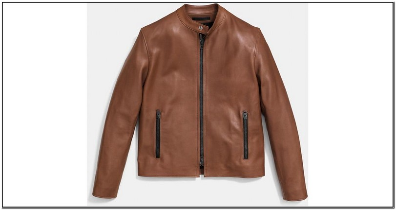 Coach Mens Leather Jacket Racer