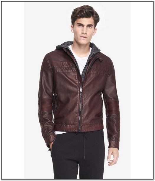 Express Leather Jacket Mens