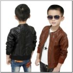 Faux Leather Jacket For Toddler Boy