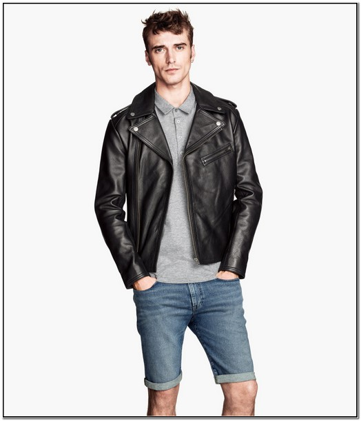 H And M Mens Leather Jacket