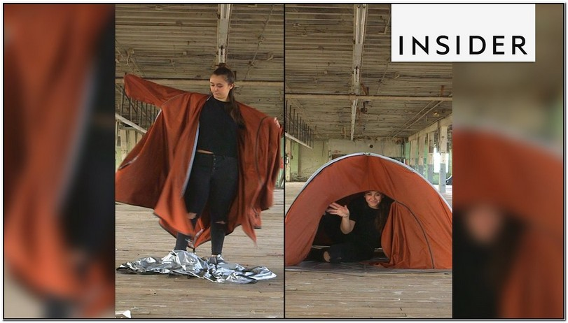 Jacket That Turns Into A Tent