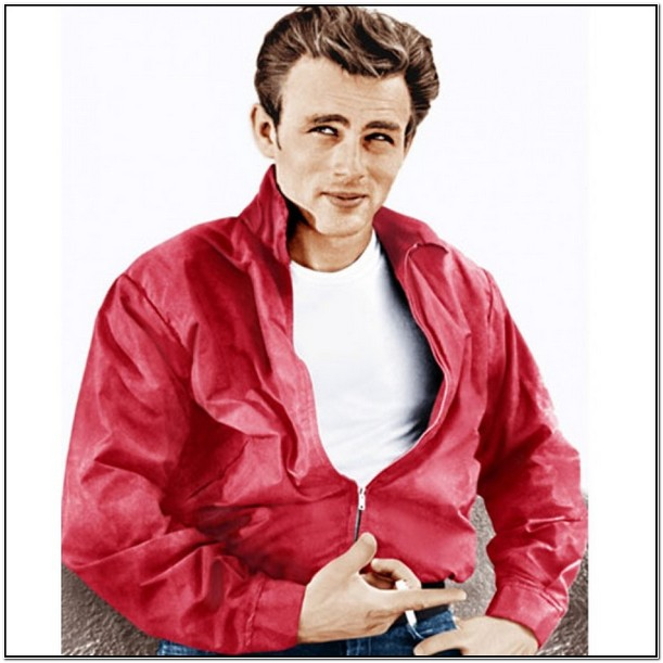 James Dean Red Leather Jacket