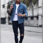 Jean Jacket Outfits Male Pinterest