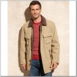 Mens Barn Jacket With Leather Collar