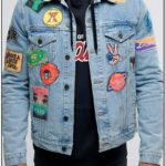 Mens Blue Jean Jacket With Patches