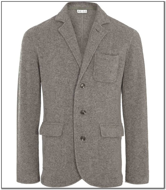 Mens Boiled Wool Blazer Womens