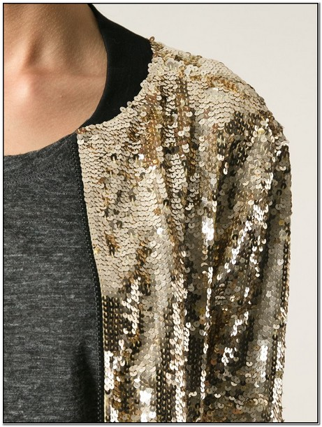 Mens Gold Sequin Bomber Jacket