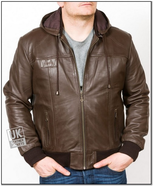 Mens Leather Jackets With Hood Uk