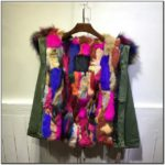 Multi Color Fur Hood Jacket