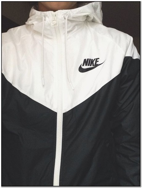 Nike Rain Jacket Womens Black And White