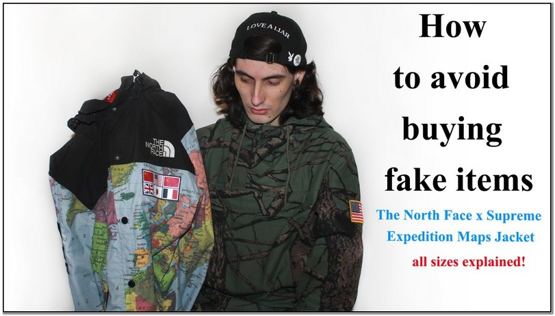 North Face Supreme Map Jacket Replica