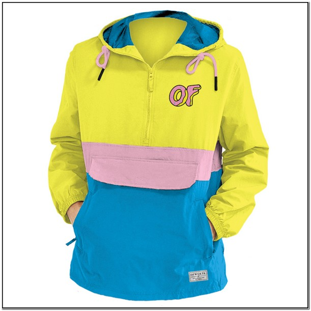 Odd Future Jacket Yellow Blue Pink