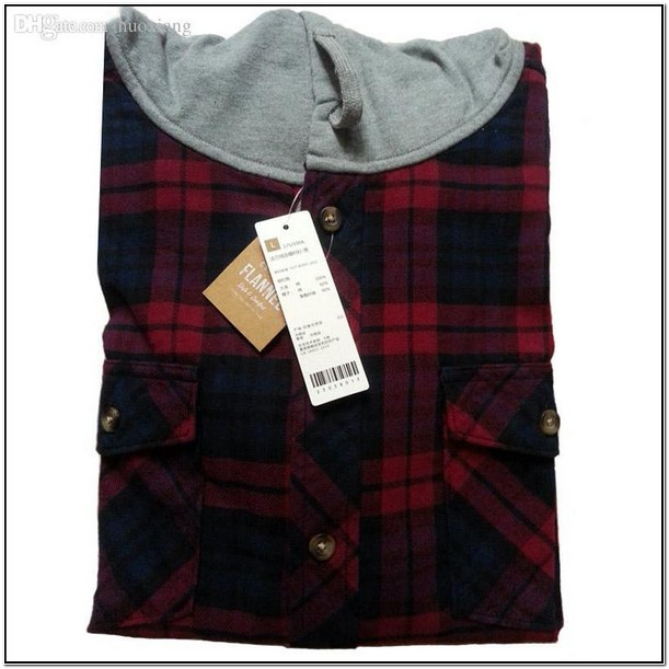 Plaid Flannel Jacket With Hood
