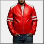 Red Leather Biker Jacket Mens