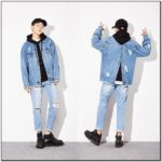Ripped Oversized Denim Jacket Mens