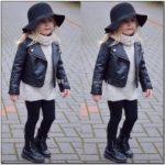 Toddler Girl Leather Biker Jacket