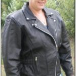 Womens Tall Leather Motorcycle Jacket