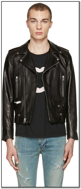 Yves Saint Laurent Mens Leather Jacket